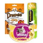 Katzensnacks und Katzenpasten